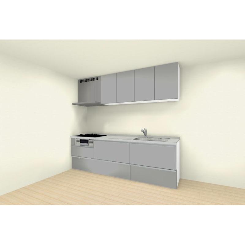 クリナップ システムキッチン rakuera(ラクエラ) 壁付けタイプ I型 間口2550mm おすすめプラン コンフォートシリーズ 標準セット