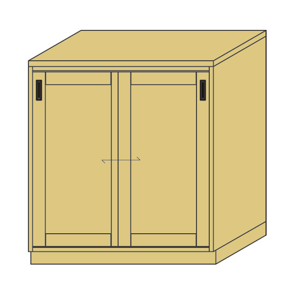 LOHAS material 造作家具 カウンターキャビネット ZC-PM4-T1311mm単位 オーダー 可能 自然素材 木製 手作り 特注