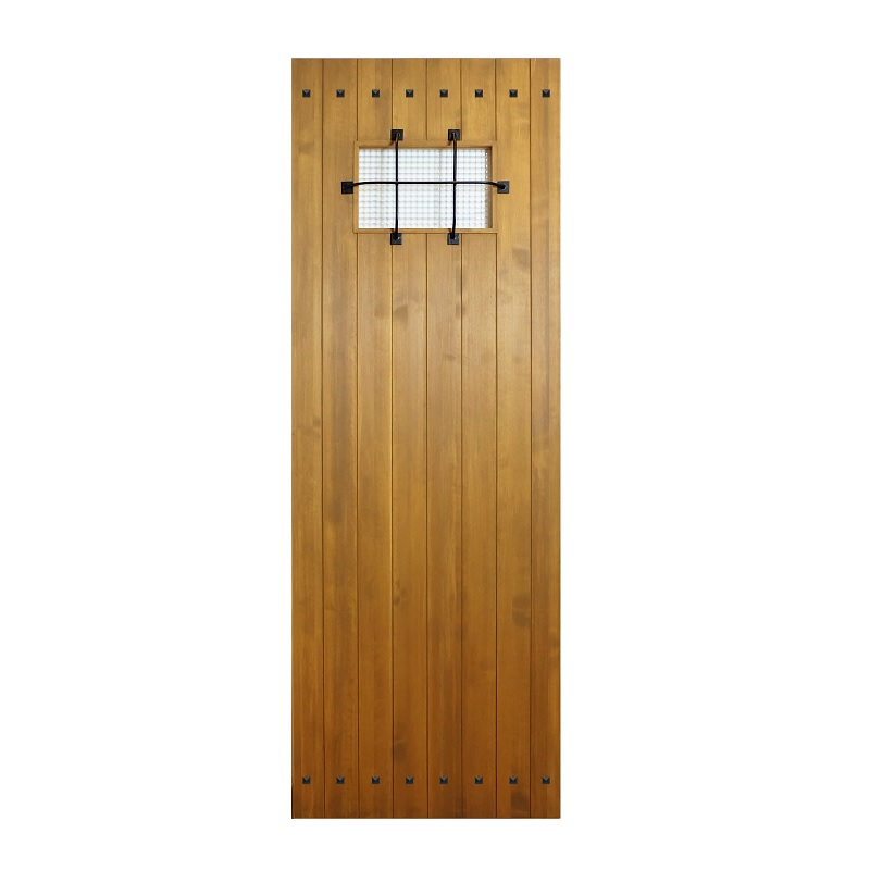 LOHAS material 無垢建具 室内ドア アイアンシリーズ ID01 パイン 無塗装 扉 自然素材 木製 戸 特注 インテリア インダストリアル 鉄 オーダー デザイン 格子