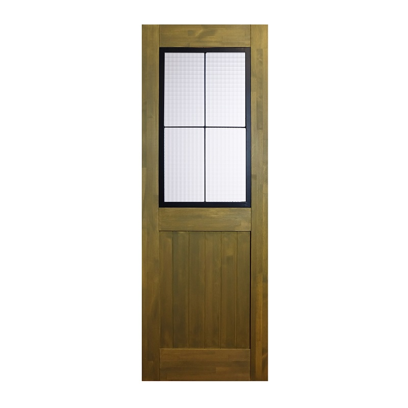 LOHAS material 無垢建具 室内ドア アイアンシリーズ ID02 パイン 無塗装 扉 自然素材 木製 戸 特注 インテリア インダストリアル 鉄 オーダー デザイン 格子