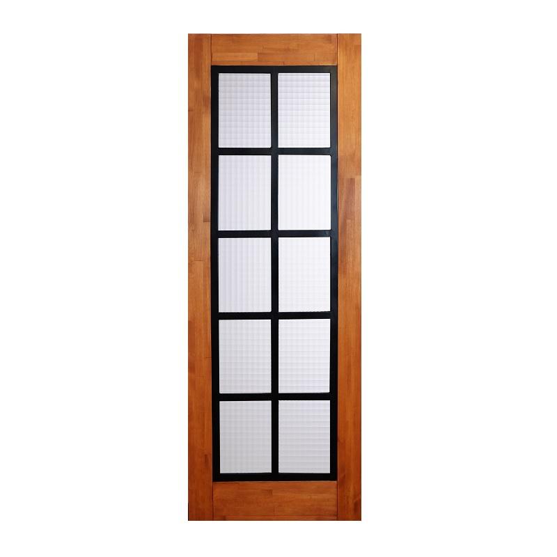 LOHAS material 無垢建具 室内ドア アイアンシリーズ ID05 パイン 無塗装 扉 自然素材 木製 戸 特注 インテリア インダストリアル 鉄 オーダー デザイン 格子