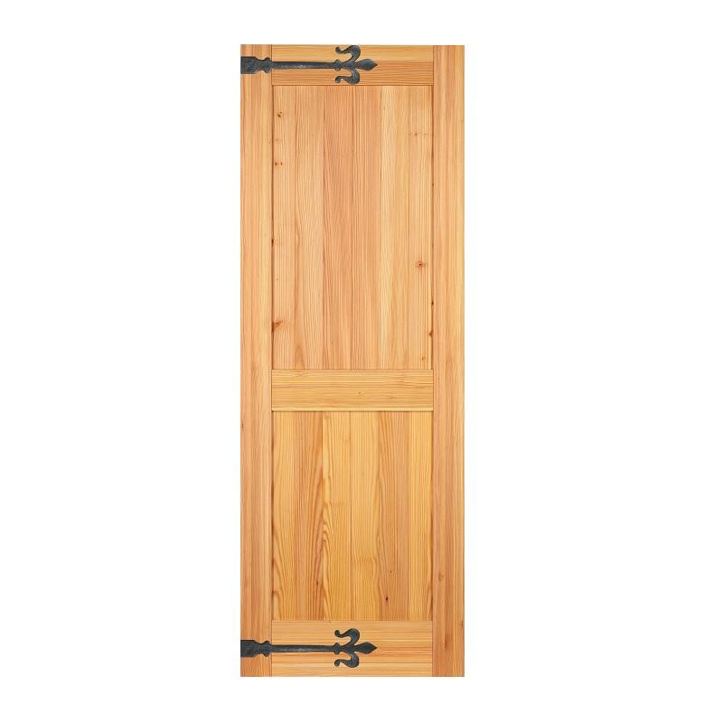 LOHAS material 無垢建具 室内ドア アイアンシリーズ ID06 パイン 無塗装 扉 自然素材 木製 戸 特注 インテリア インダストリアル 鉄 オーダー デザイン 格子