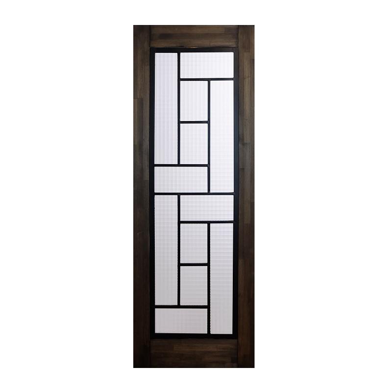 LOHAS material 無垢建具 室内ドア アイアンシリーズ ID10 パイン 無塗装 扉 自然素材 木製 戸 特注 インテリア インダストリアル 鉄 オーダー デザイン 格子