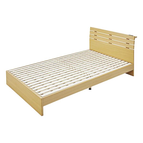 OK-DEPOT material 家具 ダブルベッド B-80D-NA 送料無料 おしゃれ ベッド 寝具 ダイニング 寝室 デザイン シンプル ナチュラル