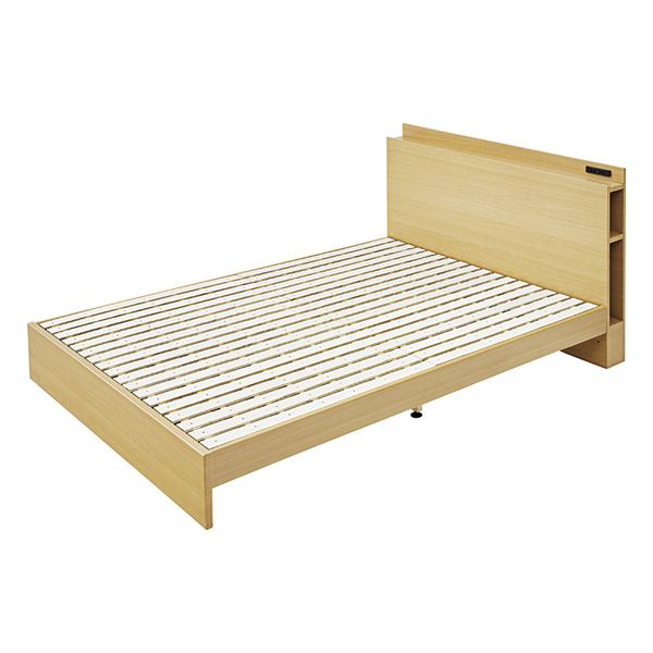 OK-DEPOT material 家具 ダブルベッド B-81D-NA 送料無料 おしゃれ ベッド 寝具 ダイニング 寝室 デザイン シンプル ナチュラル