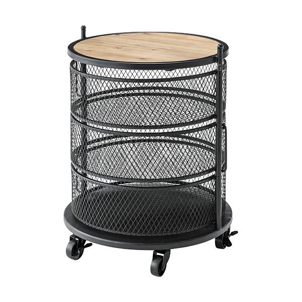 OK-DEPOT material 家具 サークルワゴン PW-406BK 送料無料 おしゃれ インテリア リビング ダイニング 寝室 デザイン シンプル ナチュラル