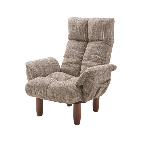 家具 OK-DEPOT material 脚付パーソナルチェア RKC-39GY