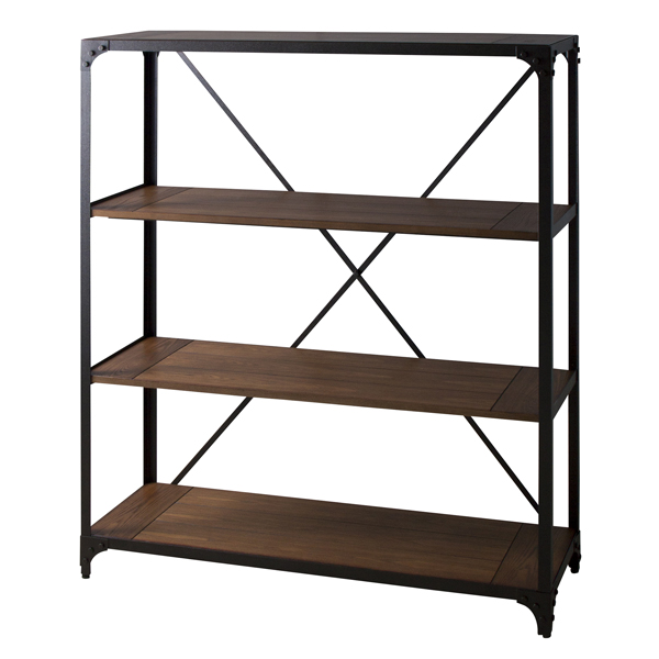 家具 OK-DEPOT material ワイドラック3段 DIS-937BK