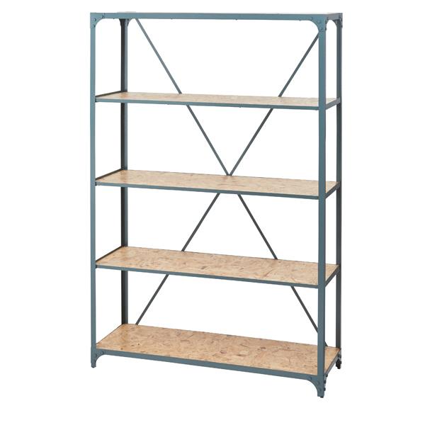 家具 OK-DEPOT material ワイドラック4段 DIS-939GR
