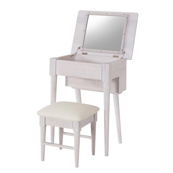 家具 OK-DEPOT material ドレッサースツールセット NET-589WH