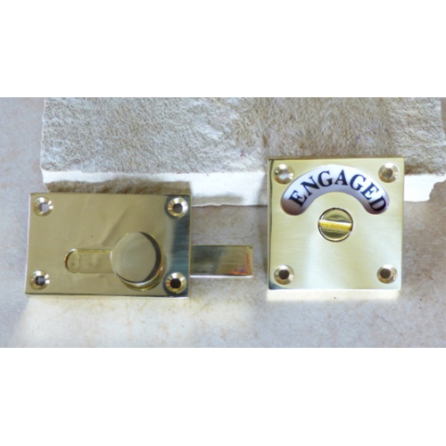 ドアオプション 表示錠 真鍮素材表示錠 square-BPB