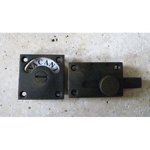 ドアオプション 表示錠 アンティーク加工黒焼付加工表示錠 square-BSC-Black-AN