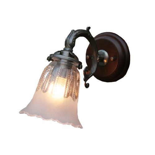 照明器具 サンヨウ アンティーク調 屋内 リビング 廊下 シェード ランプ 真鍮 灯具 ウォールランプ FC-WW530A 1821 送料無料