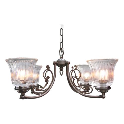 照明器具 サンヨウ アンティーク調 屋内 リビング 廊下 シェード ランプ 真鍮 灯具 シャンデリア CP40AB 2010 送料無料