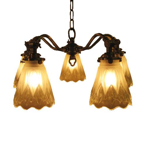 照明器具 サンヨウ アンティーク調 屋内 リビング 廊下 シェード ランプ 真鍮 灯具 シャンデリア SS50AB 097 送料無料