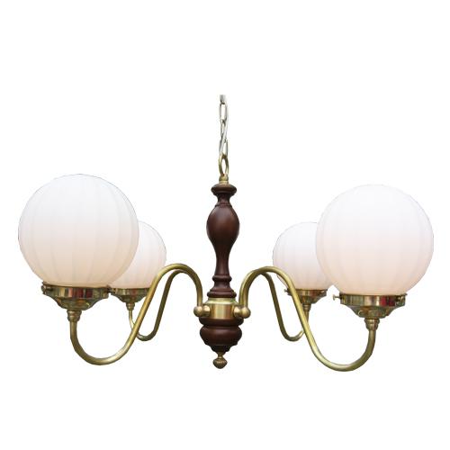 照明器具 サンヨウ アンティーク調 屋内 リビング 廊下 シェード ランプ 真鍮 灯具 シャンデリア FC-330G4 311 送料無料