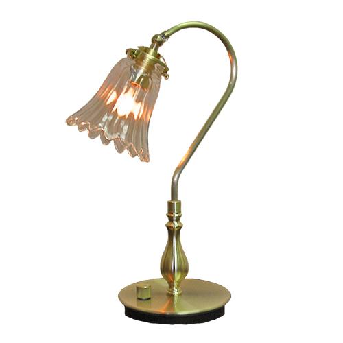 照明器具 サンヨウ アンティーク調 屋内 リビング 廊下 シェード ランプ 真鍮 灯具 テーブルランプ FC-210G 165 送料無料