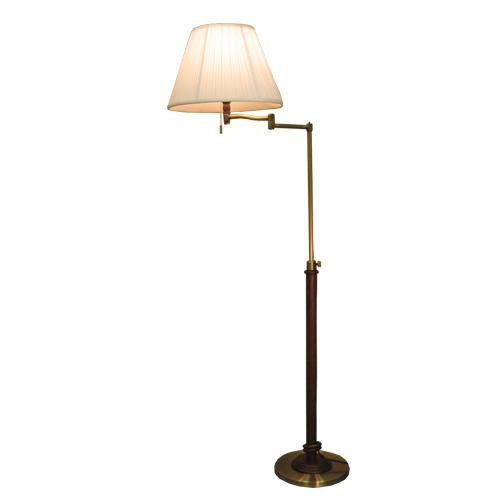照明器具 サンヨウ アンティーク調 屋内 リビング 廊下 シェード ランプ 真鍮 灯具 フロアランプ FC-720 PW 送料無料