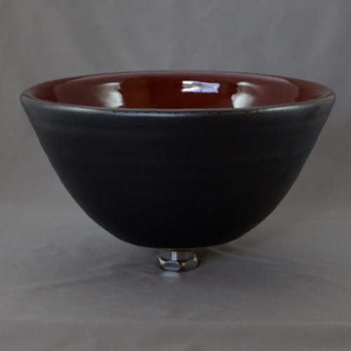重蔵窯 洗面ボウル MEBIUS Design Bowl MEBI-0027RB レッドブラック 洗面化粧台 送料無料 個性的 デザイン性
