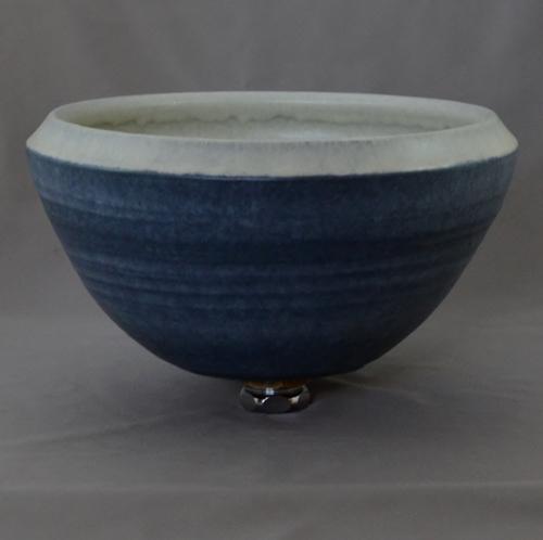 重蔵窯 洗面ボウル MEBIUS Design Bowl MEBI-1127WB ホワイトブルー 洗面化粧台 送料無料 個性的 デザイン性