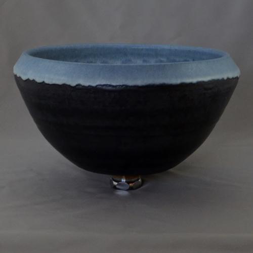 重蔵窯 洗面ボウル MEBIUS Design Bowl MEBI-1127BB ブルーブラック 洗面化粧台 送料無料 個性的 デザイン性