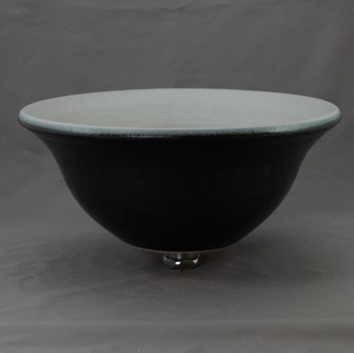 重蔵窯 洗面ボウル MEBIUS Design Bowl MEBI-0032WB ホワイトブラック 洗面化粧台 送料無料 個性的 デザイン性