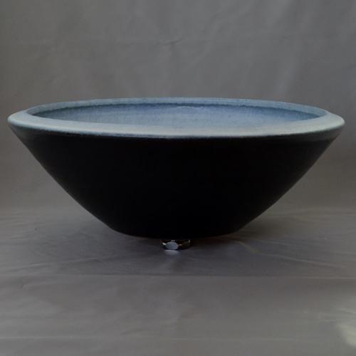 重蔵窯 洗面ボウル MEBIUS Design Bowl MEBI-0040BB ブルーブラック 洗面化粧台 送料無料 個性的 デザイン性