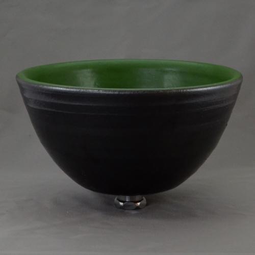 重蔵窯 洗面ボウル MEBIUS Design Bowl MEBI-0027GB グリーンブラック 洗面化粧台 送料無料 個性的 デザイン性