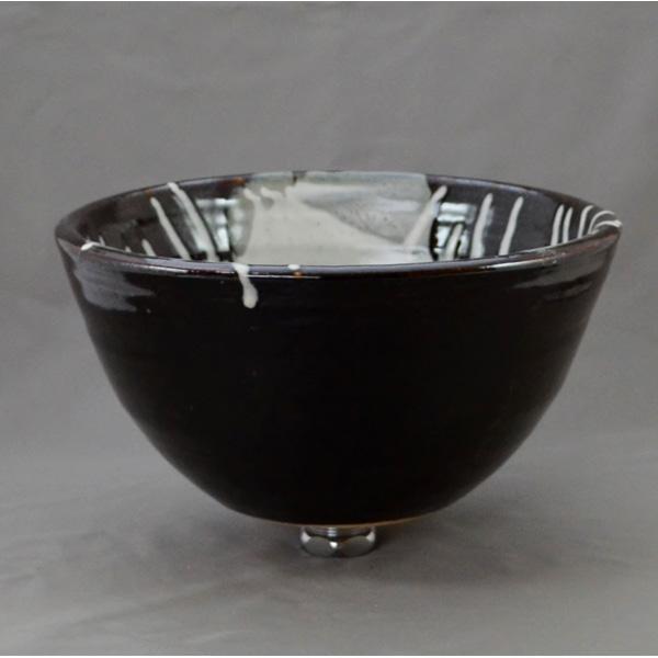 重蔵窯 洗面ボウル 利休信楽焼手洗い鉢 黒天目藁灰 011-27 洗面化粧台 送料無料 個性的 デザイン性