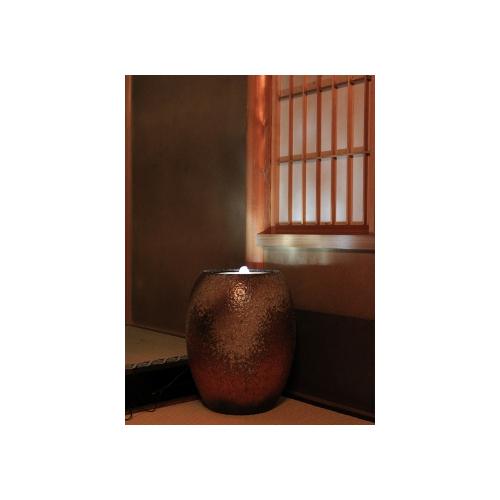 重蔵窯 水琴窟 すいきんくつ HAMON 光の琴音-201 火色古信楽 送料無料
