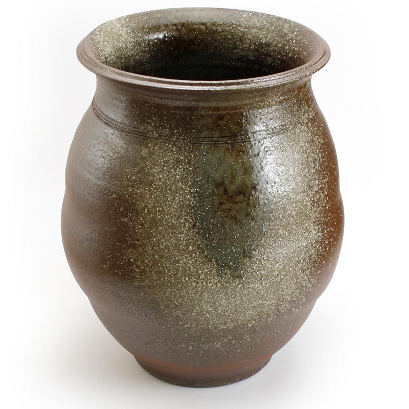 重蔵窯 水瓶 利休信楽焼 水瓶 M101 火色古信楽20号 送料無料