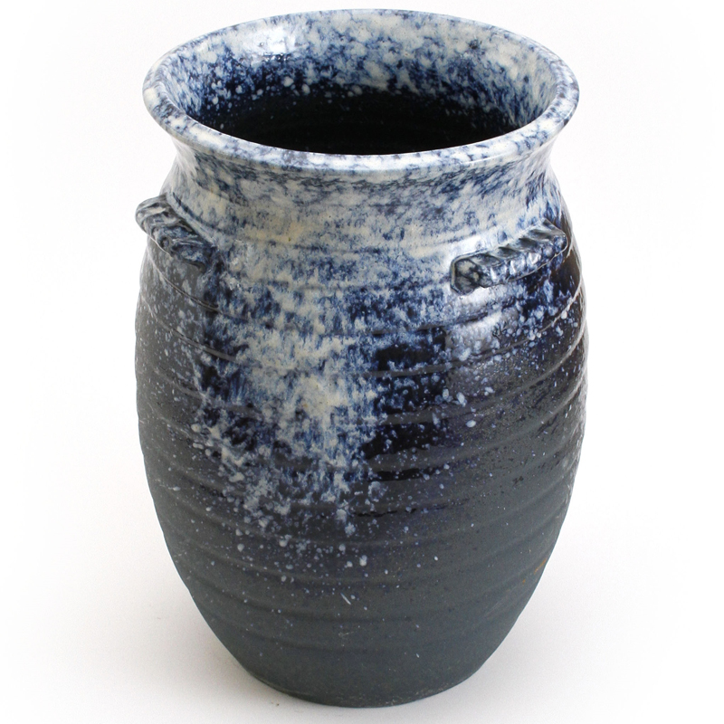重蔵窯 水瓶 利休信楽焼 水瓶 M112 青白窯変 送料無料