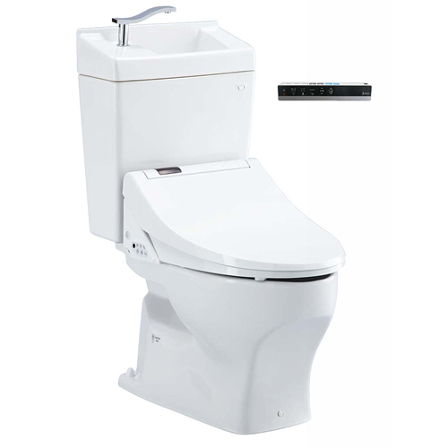 Janis ジャニス タンク式トイレ CoCoCleanシリーズ ココクリン3アルファ 手洗付 専用温水洗浄便座 床排水仕様 送料無料