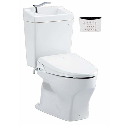 Janis ジャニス タンク式トイレ CoCoCleanシリーズ ココクリン3 手洗付 組み合わせ便座サワレット590 床排水仕様 送料無料