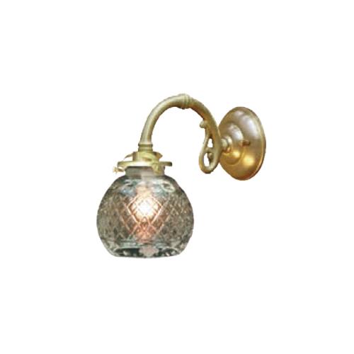 照明器具 サンヨウ アンティーク調 屋内 リビング 廊下 シェード ランプ 真鍮 灯具 ウォールランプ FC-W1634G 091 送料無料