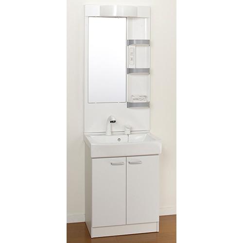 洗面化粧台 Janis ジャニス Refre Stand リフレスタンド 幅600 1面鏡 LED照明 シャワー水栓 ホワイト ドレッサー 送料無料