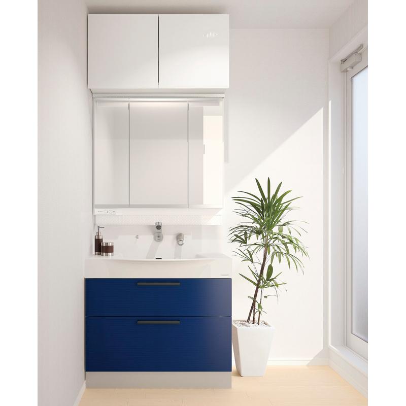 Housetec 洗面化粧台 Lavabo Plus(ラヴァーボプラス) セットプラン W1650mm 洗面化粧台1200mm+周辺収納450mm マルチミラー ベンチワゴンタイプ