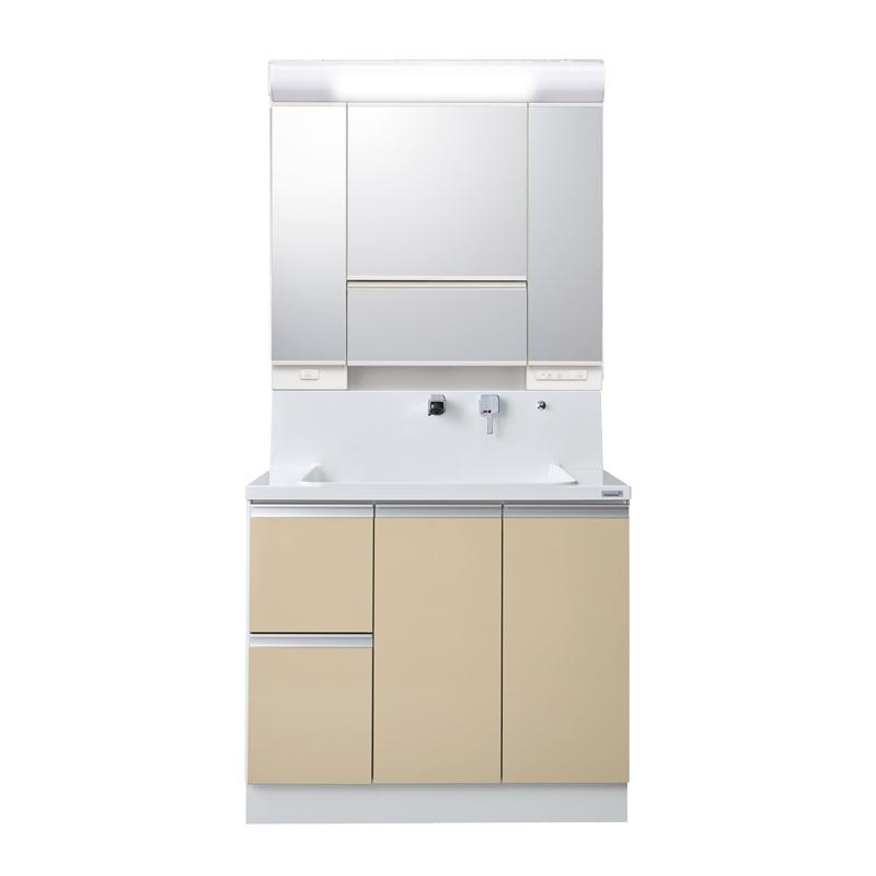 Housetec 洗面化粧台 COCOSH(ココッシュ) 間口900 片引き出しタイプ マルチミラー 扉Aカラー 一般地仕様 ハウステック
