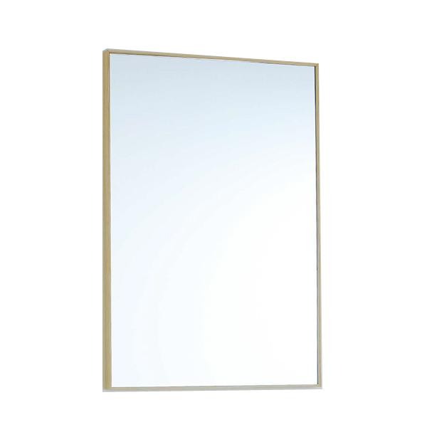 木製枠ミラー スリム枠ミラー(小) W400×H600 樹種:オーク