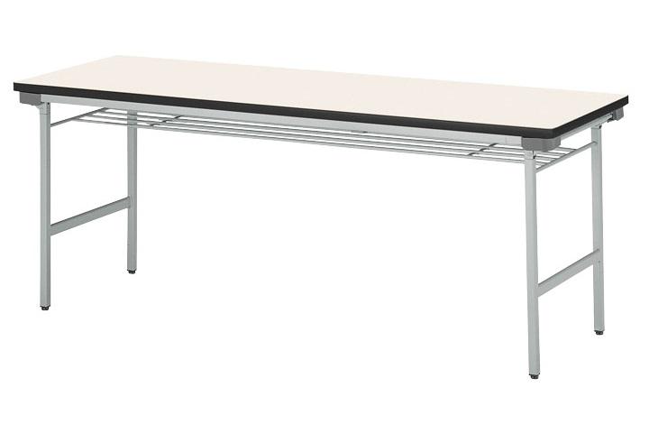 【受注生産品】会議テーブル 折りたたみアルミ脚 棚付 幅1500×奥行600×高さ700mm 【KU-1560A】