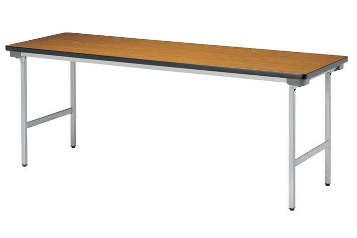 【受注生産品】会議テーブル 折りたたみアルミ脚 棚なし 幅1800×奥行600×高さ700mm 【KU-1860AN】