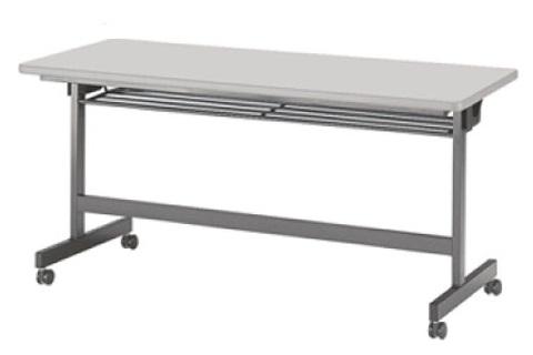 【受注生産品】フラップ式会議テーブル 幅1500×奥行600×高さ700mm [LHB-1560]