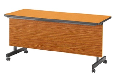 【受注生産品】フラップ式会議テーブル 幕板付 幅1500×奥行450×高さ700mm [LHB-1545P]