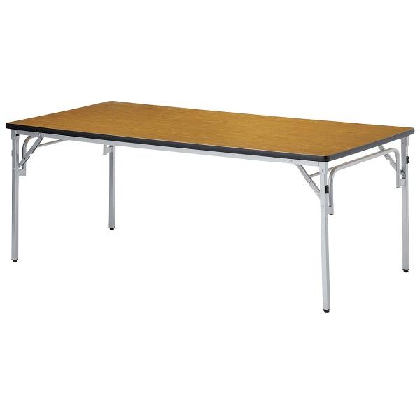 【受注生産品】会議用テーブル 折りたたみテーブル 奥行側にも着席可能 W1800×D900×H700mm 【TGS-1890】