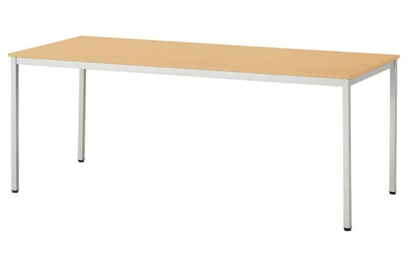 【受注生産品】会議テーブル 薄型天板 四本脚 角型 幅1800×奥行900×高さ700mm 【UKR-1890】
