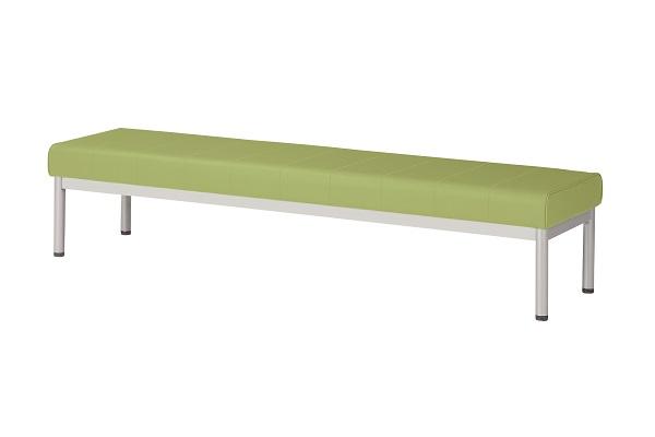 【受注生産】脚の色が選べるロビーチェア 背なし ALBシリーズ W1500×D460×H385mm [ALB-15B]