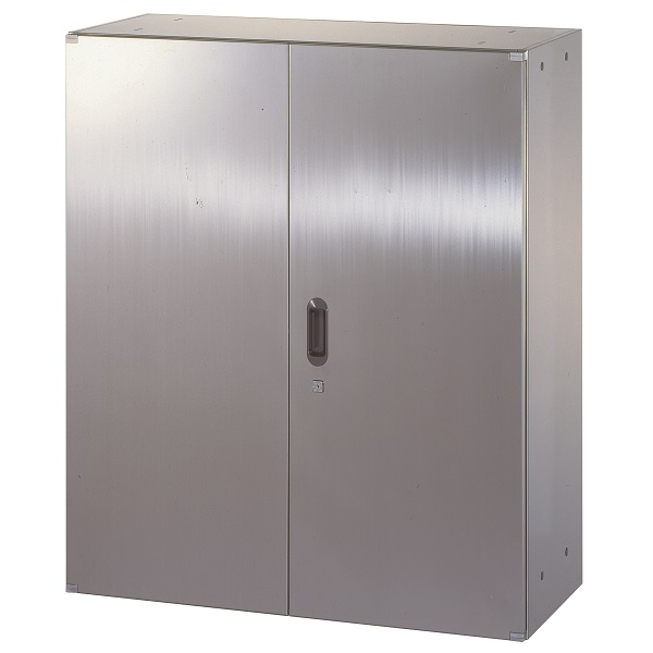ステンレス収納庫 両開き戸 W900×D400×H1050mm 送料別 法人様限定商品 [STH4-11]