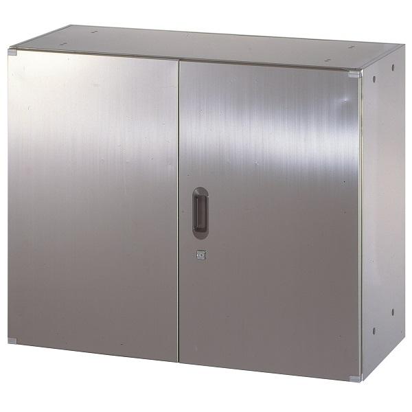 ステンレス収納庫 両開き戸 W900×D400×H720mm 送料別 法人様限定商品 [STH4-7]