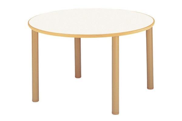 福祉施設用テーブル ハイアジャスター式高さ調節 円型 直径1200×高さ700-750mm 【FHO-1200R】