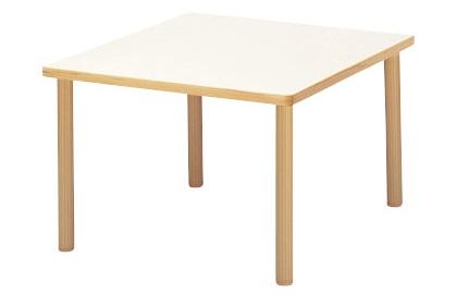 福祉施設用テーブル ハイアジャスター式高さ調節 角型 幅1200×奥行1200×高さ700-750mm 【FHO-1212K】
